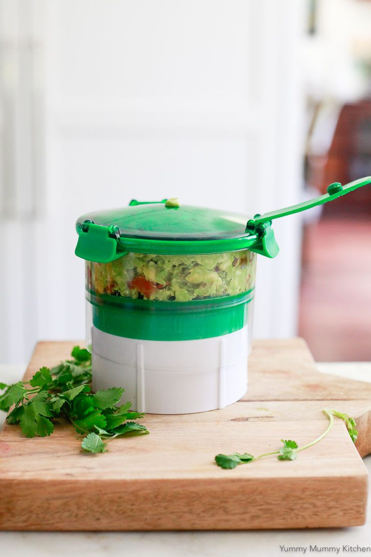 The Guac-Lock keeps guacamole fresh and green.