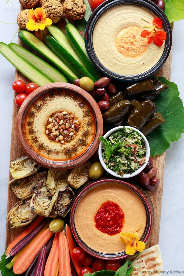 Mediterranean Hummus Mezze Platter Yummy Mummy Kitchen
