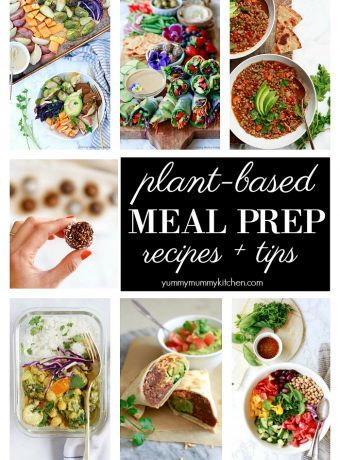 Healthy vegan plant based meal prep ideas from salads to soups to bowls.