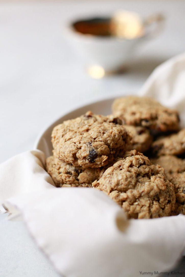 Oatmeal Raisin Cookies (Vegan, Gluten-Free)