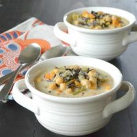 Vegan Wild Rice Soup in the Instant Pot