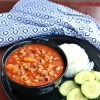 Black-Eyed Peas and Potato Stew | Lobia and Aloo Subzi – (Vegan and Gluten Free)
