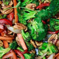 Stir Fry Vegetables with Pecans