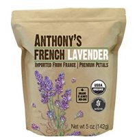 Anthony's Organic French Lavender Petals (5oz), Extra Grade - Dried, Gluten Free & Non-GMO