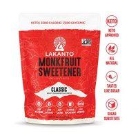 Lakanto Monkfruit 1:1 Sugar Substitute   NON GMO (Classic White, 1 Pound)