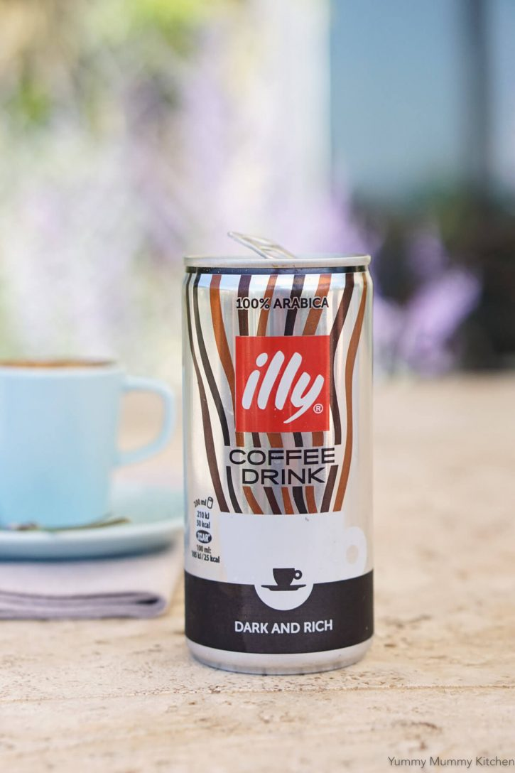 A can of Illy coffee in Italy.