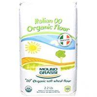 Molino Grassi USDA Organic Italian Soft Wheat Flour, 2.2 lbs (Pack of 2)