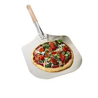 Kitchen Supply 14-Inch x 16-Inch Aluminum Pizza Peel with Wood Handle