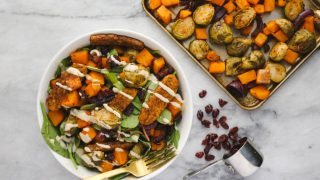 Roasted Vegetable Salad with Smoky Tempeh