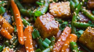 Sesame Ginger Tempeh Stir Fry | Food with Feeling