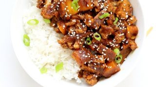 Tempeh Cauliflower Butternut in Teriyaki Sauce - Date Sweetened