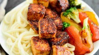 Crispy tofu with hoisin sauce