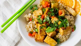 Orange Tofu - featuring the EZ Tofu Press