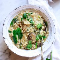 Mushroom Risotto (Instant Pot or Stovetop)