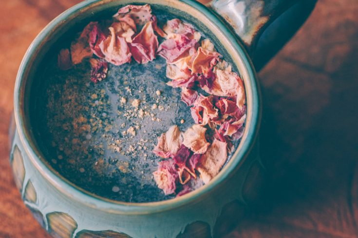 Cosmic Ginger Rose Activated Charcoal Latte (Vegan, Gluten-Free) — MOON and spoon and yum