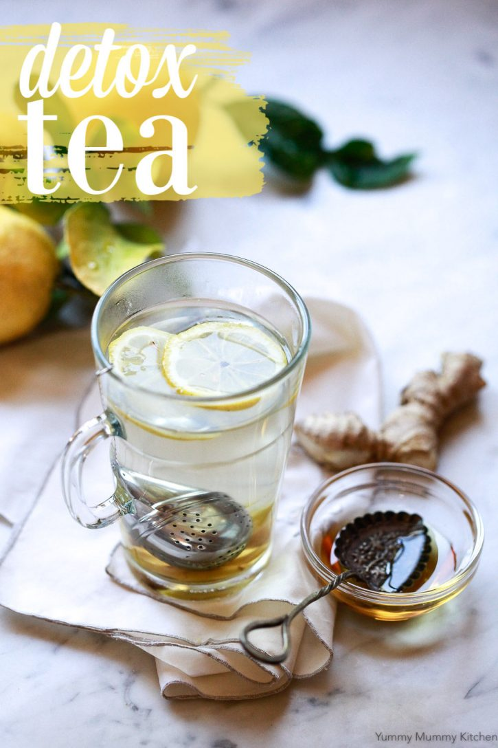 The best healthy liver detox tea recipe made with dandelion root and ginger. This tea is like a homemade yogi detox tea. Plus, learn about detox tea benefits.